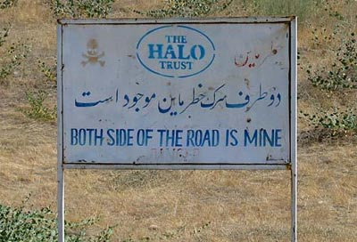 Mine Field in Badakhshan, Afghanistan
